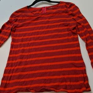 Ann Taylor Loft long sleeve striped top
